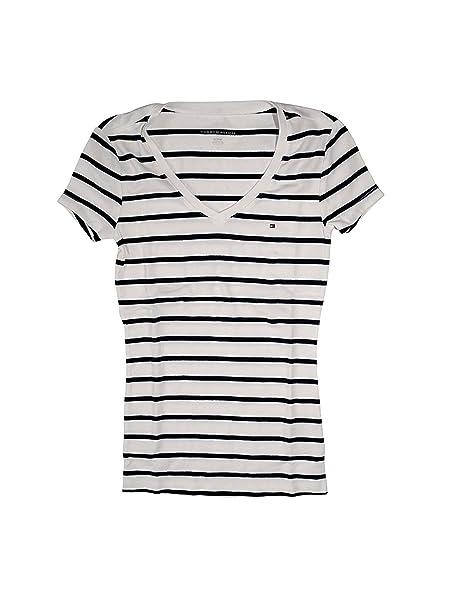 031a9e892eb7 Tommy Hilfiger - T-shirt - Femme - multicolore - Medium  Amazon.fr ...