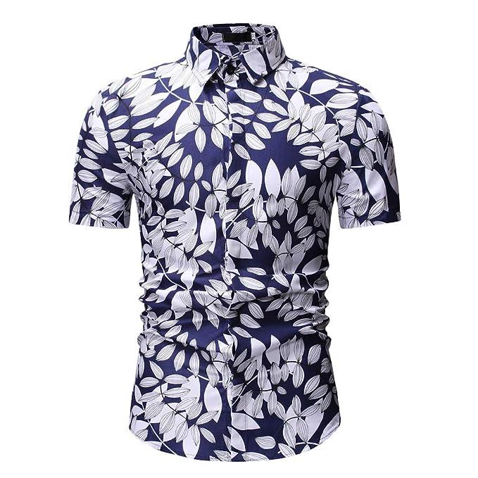 1359d54ac7 ZODOF Camisetas Hombre Manga Cortos Verano Moda Músculo Personalidad Casual  Remera Slim Camisas de Deporte
