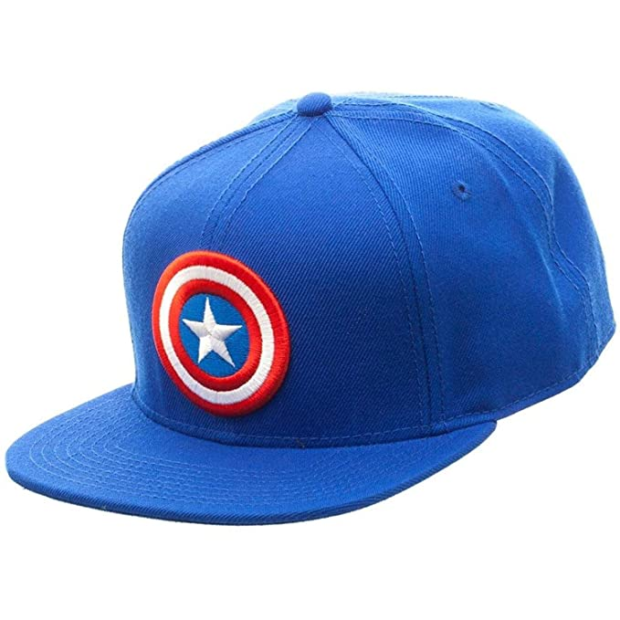 7af45952fb9 Marvel Comics Captain America Licensed Logo Adjustable Snapback Cap Hat Blue