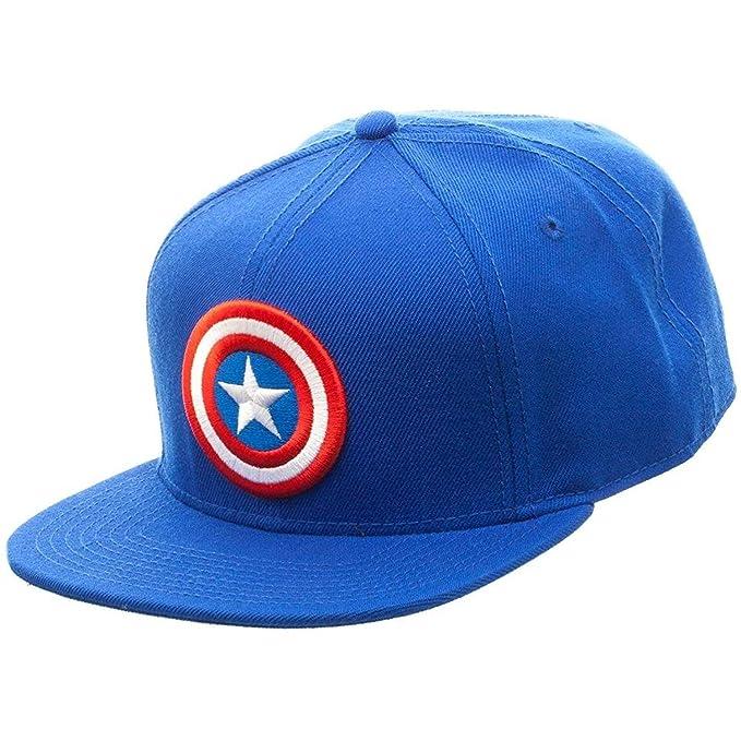 153fbcf4b5fa7 Marvel Comics Captain America Licensed Logo Adjustable Snapback Cap Hat Blue