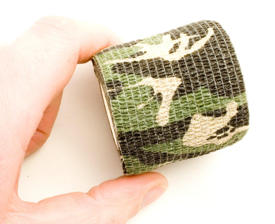 3er Set Camouflage Tarn-Tape 4,5m Fotografen Gewebe-Band wasserfest mehrfach verwendbar Ausr/üstung Kamera Angler J/äger Outdoor Saxx/®