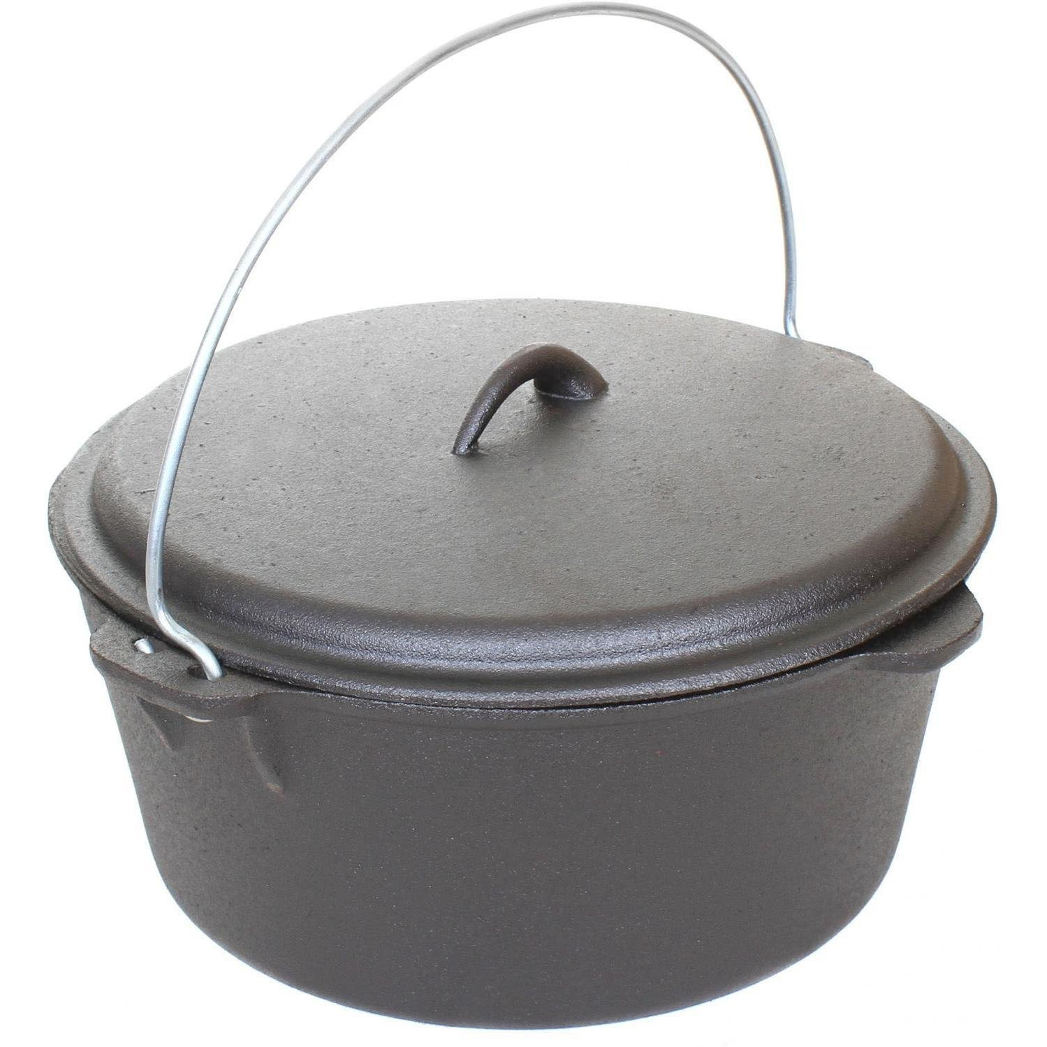 Cajun Cookware Dutch Ovens 9 Quart Cast Iron Dutch Oven