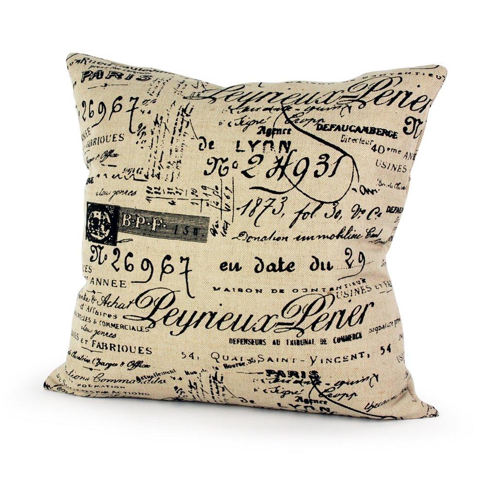 Amazon.com: Lavievert Decorative Ramie Cotton Square Throw Pillow ...