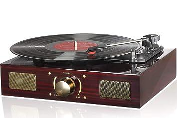LuguLake Reproductor de Discos de Vinilo, Tocadiscos LuguLake con ...