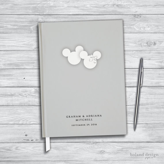 Disney Wedding Guest Book. Disney honeymoon by BolandDesignPap​erCo