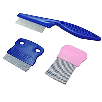 Mites Tear Stain /& Flea Remover Comb Set for Dog Cat Stainless Steel Teeth Pet Grooming Comb for Removing Flea Egg Ticks Dandruff Flakes Heyu-Lotus 6 PCS Pet Flea Comb Mucus and Stains Crust