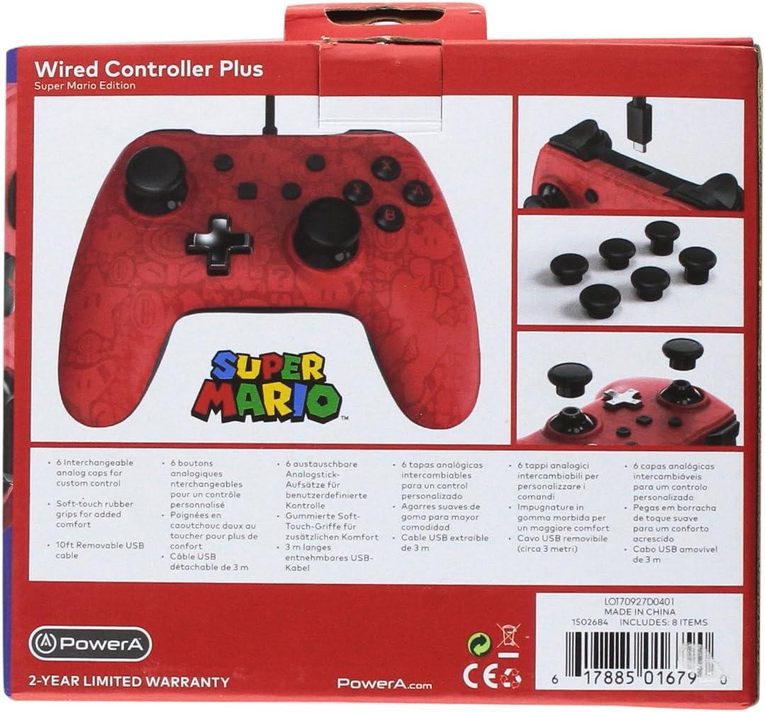 Powera Wired Controller Plus Super Mario Nintendo Usb Wire Diagram Custom Controlls Switch Red Video Games