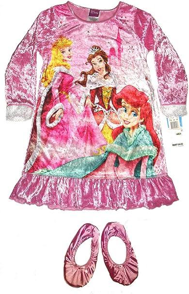 Princess Disney Magical Velour Gown /& Slippers Set~ Girls SZ 4 Pink