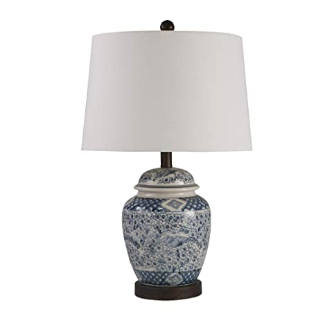Sagebrook Home 50228 03 Ceramic 24 Ginger Jar Table Lamp
