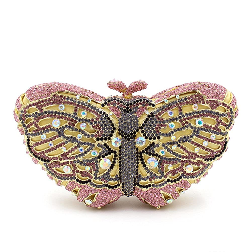 5  Flada Ladies Luxury Handbags colorful Butterfly Shape Evening Clutch Purse Bags