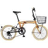 DOPPELGANGER(ドッペルギャンガー) 折りたたみ自転車 m6シリーズ 20インチ パラレルツインチューブフレーム採用モデル かご・泥除け付き