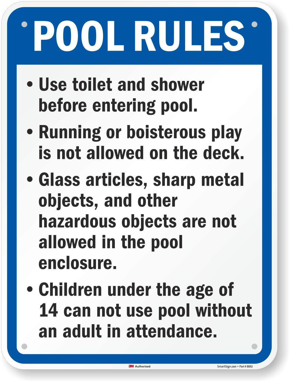SmartSign ''California Pool Rules'' Sign | 18'' x 24'' 3M Engineer Grade Reflective Aluminum by SmartSign