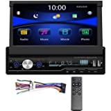 Regetek Single Din Car Stereo 7 inch Bluetooth Car Audio Video Player RDS FM AM Car Radio Player USB/AUX/TF HD…