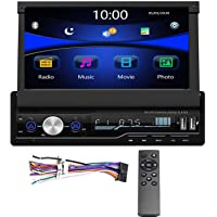 Regetek Single Din Car Stereo 7 inch Bluetooth Car Audio Video Player RDS FM AM Car Radio Player USB/AUX/TF HD…