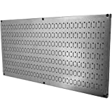 "Wall Control 30-HP-1632 GV 16"" x 32"" Horizontal Galvanized Metal Pegboard Tool Board Panel"