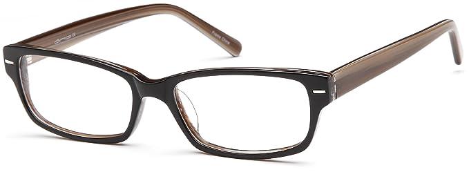 unisex square glasses frames brown prescription eyeglasses 53 16 140