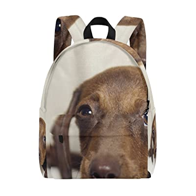 Mapolo Puppy Dog Dachshund Lightweight Travel School Backpack For