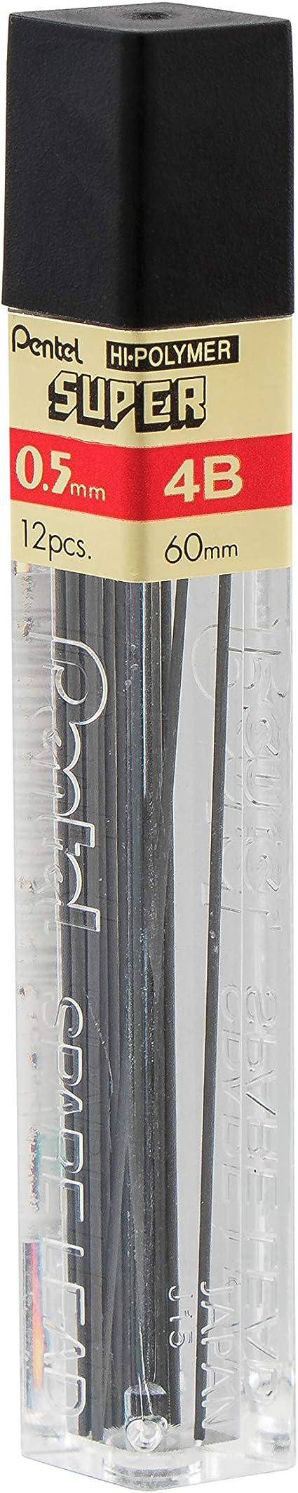 12 Minen 2H 0,5 mm Pentel Druckbleistift Mine HI POLYMER SUPER Härtegrad