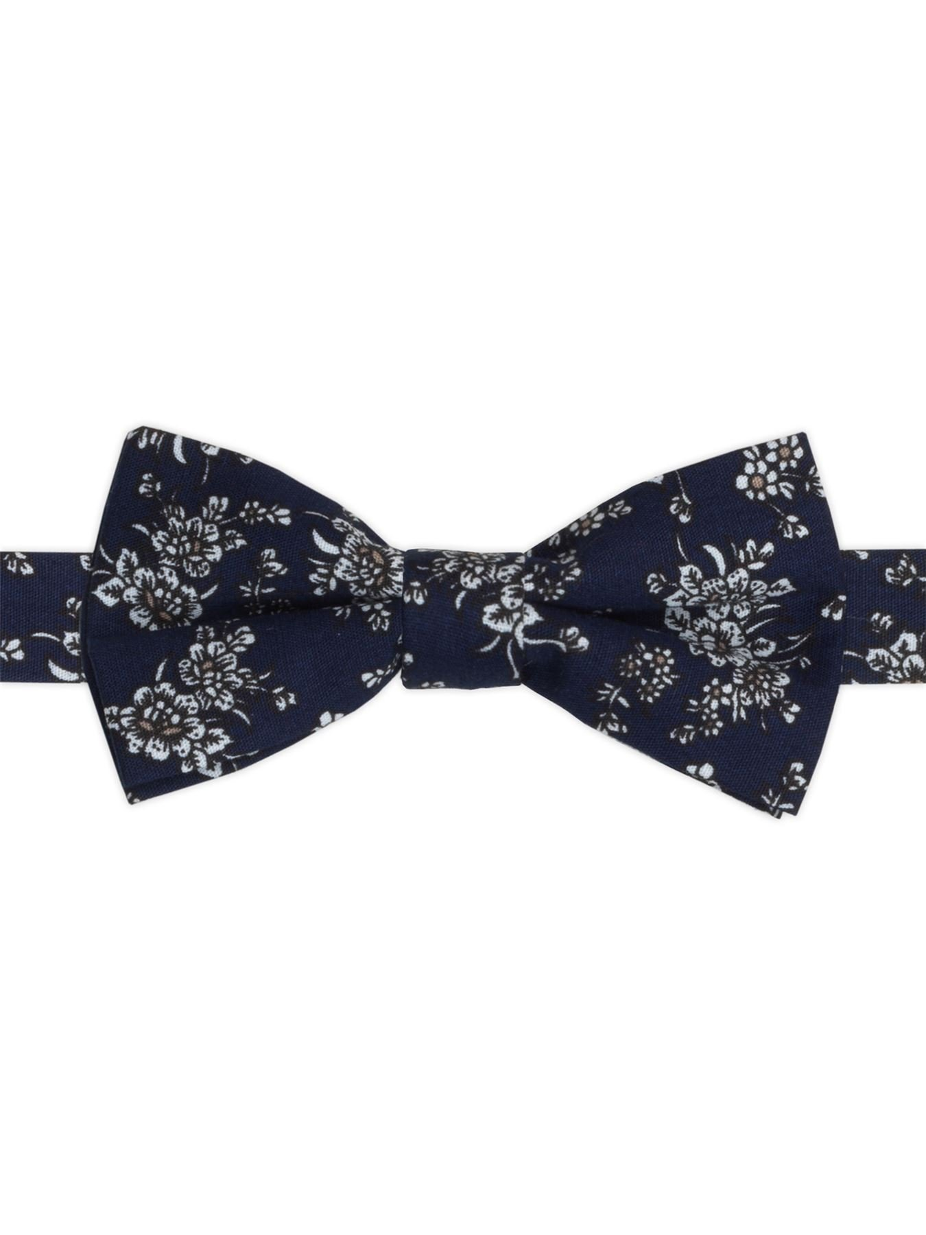 Paisley of London, Boys blue bow tie, Boys banded bow tie, Floral pattern