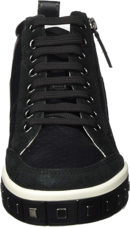 Geox D Leelu\' G, Sneaker a Collo Alto Donna Nero Black C9999