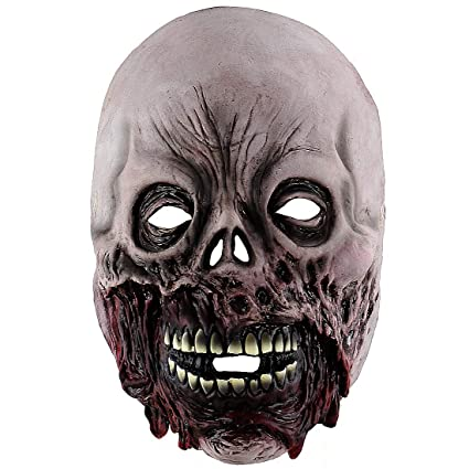 xiao chou ri ji halloween latex mask scary zombie costume role as a prop mask