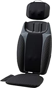 HoMedics® 2-in-1 Shiatsu Massage Cushion and Cordless Body Massager, Removable Cordless Massage Pillow, Heat and Vibrating Massage Pad for Home or Office, Full Body Massage with Adjustable Settings