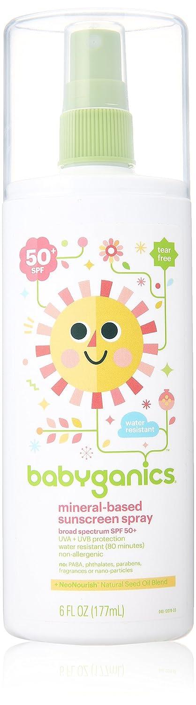 BabyGanics - Sunscreen Spray Mineral Based Fragrance Free 50 SPF - 6 oz. NA