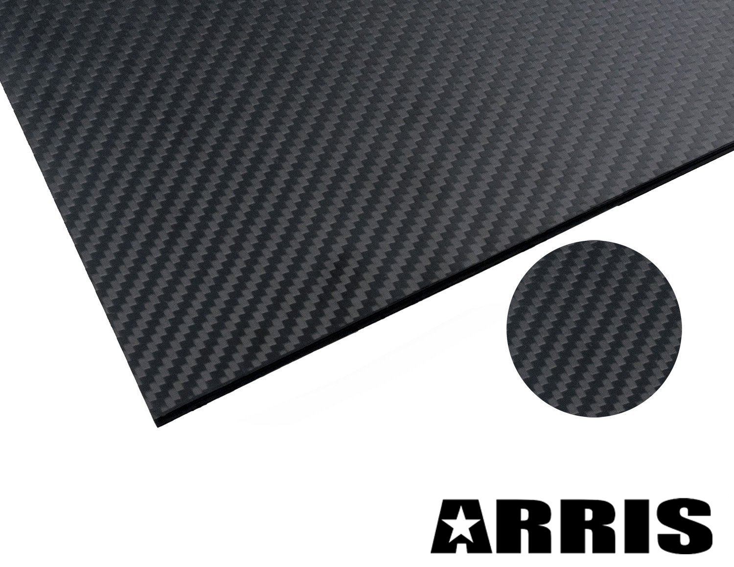 ARRIS 200X300X2.5MM 100% 3K Carbon Fiber Plate Plain Weave Panel Sheet 2.5mm Thickness(Glossy Surface) by ARRIS
