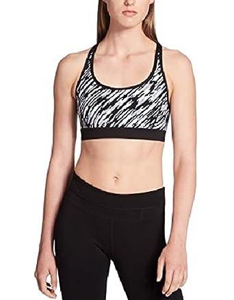 a15f5f19ebd Calvin Klein Performance Womens Strappy Printed Sports Bra B W M  Amazon.co. uk  Clothing