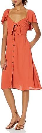 ASTR the label Womens Rachelle Cap Sleeve Lemon Print Retro Midi Dress Cap Sleeve Dress