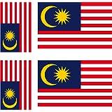 6x vinyl decal sticker car bike Laptop Case Malaysia Flag