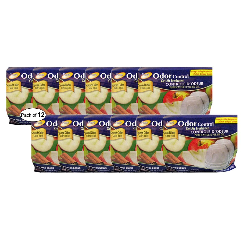 Pure Air Odor Control Air Freshener- Spiced Cider (Twin Pack 283g) (Pack Of 12)