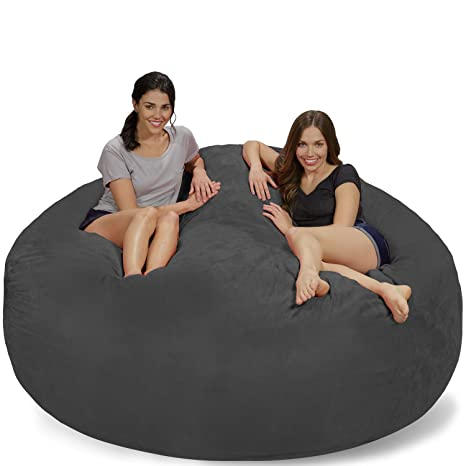 Admirable Chill Sack Bean Bag Chair Giant 7 Memory Foam Furniture Bean Bag Big Sofa With Soft Micro Fiber Cover Charcoal Micro Suede Creativecarmelina Interior Chair Design Creativecarmelinacom