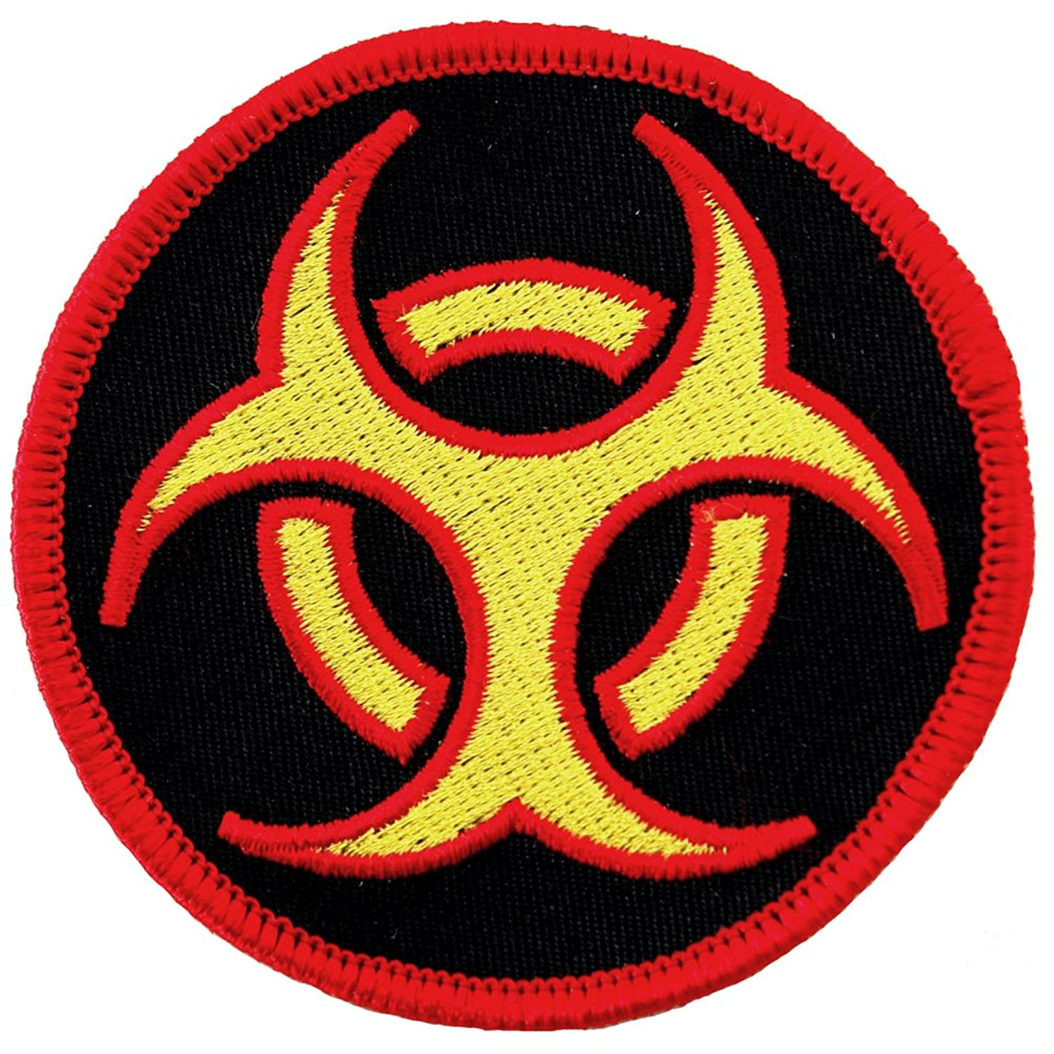Biohazard symbol embroidered patch iron on danger symbol multi biohazard symbol embroidered patch iron on danger symbol multi colored logo at amazon womens clothing store biocorpaavc Images