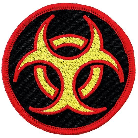 Biohazard Symbol Embroidered Patch Iron On Danger Symbol Multi