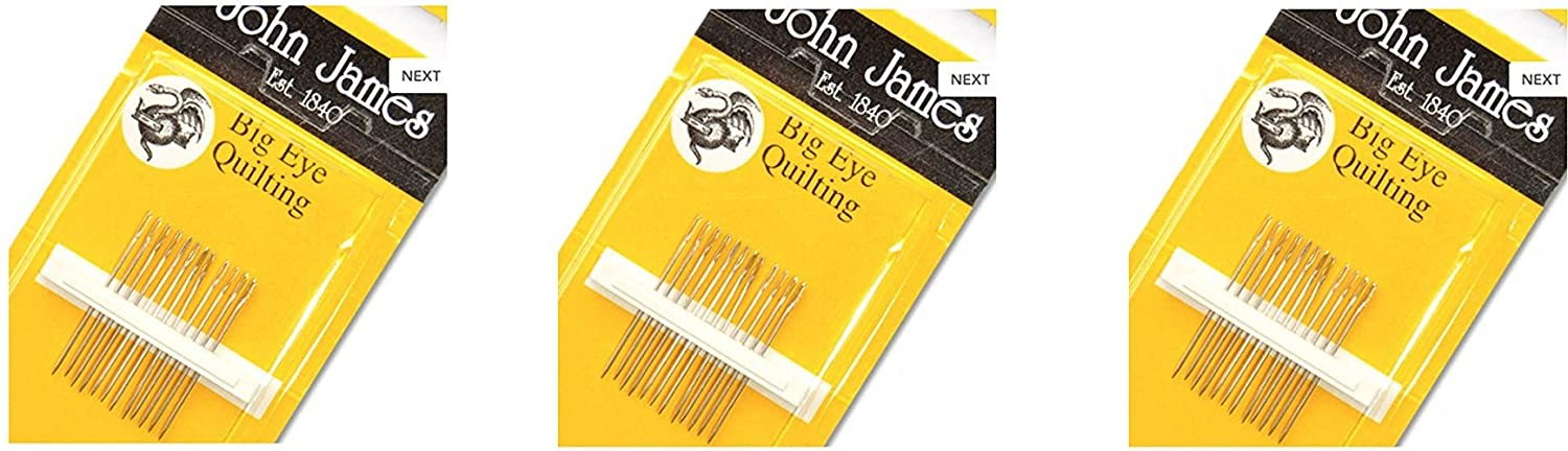 Big Eye Quilting Hand Needles-Size 11 12/Pkg (3 Pack) Colonial Needle 4337007664