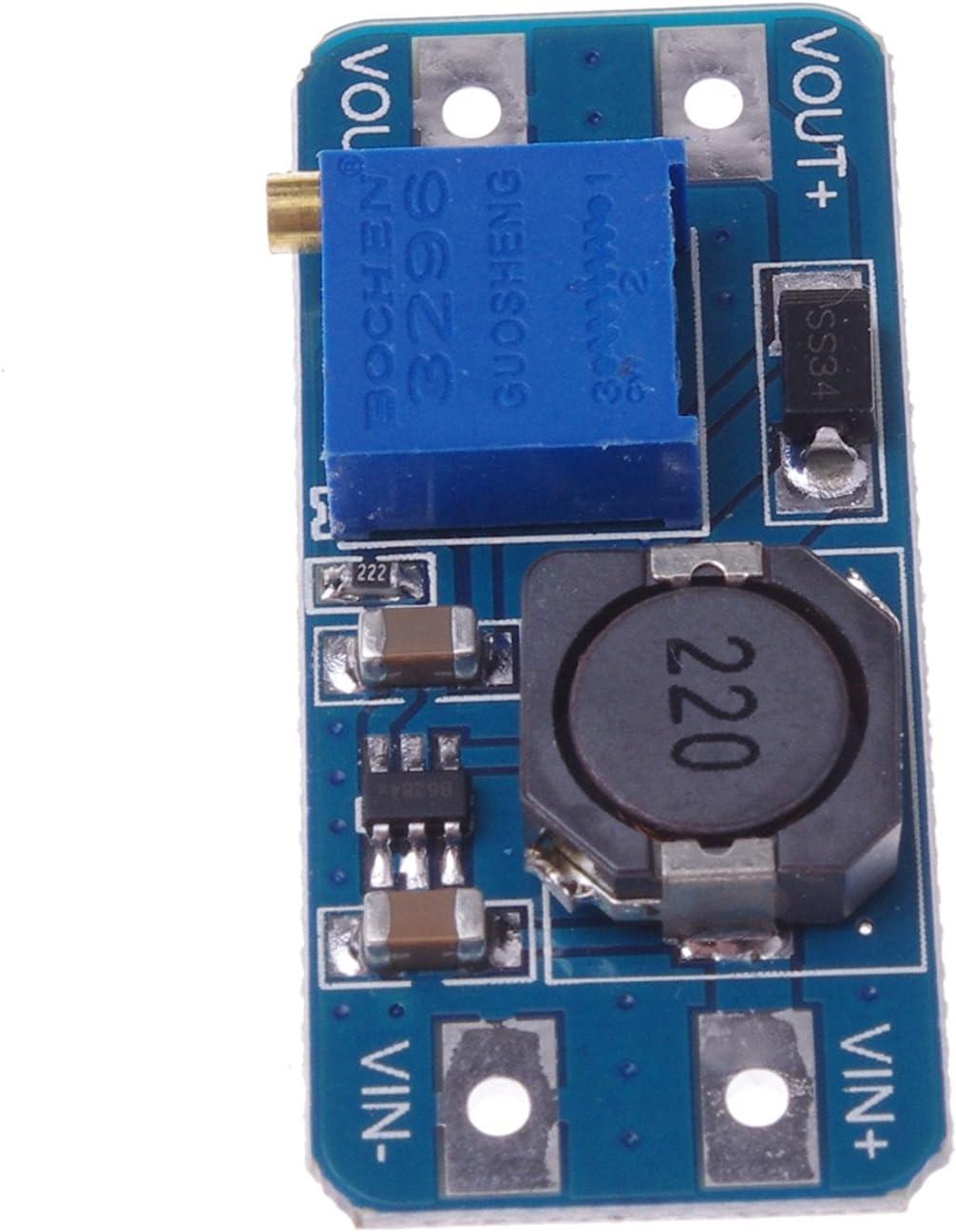 4 St/ück DC-DC 2A Step Up Einstellbare Boost Converter Modul Stromversorgung f/ür Arduino