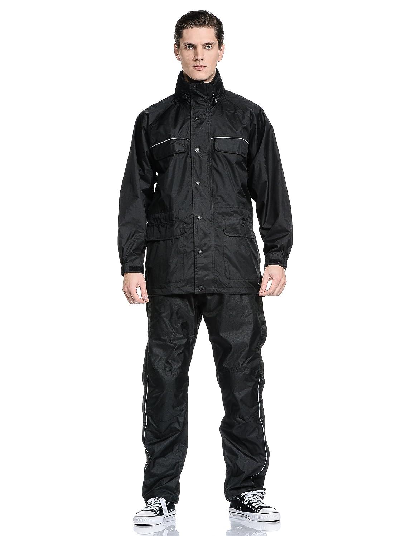 Nero Compact Top Black Giacca 4 Stagioni 100/% Impermeabile Compatto e Tascabile L OJ