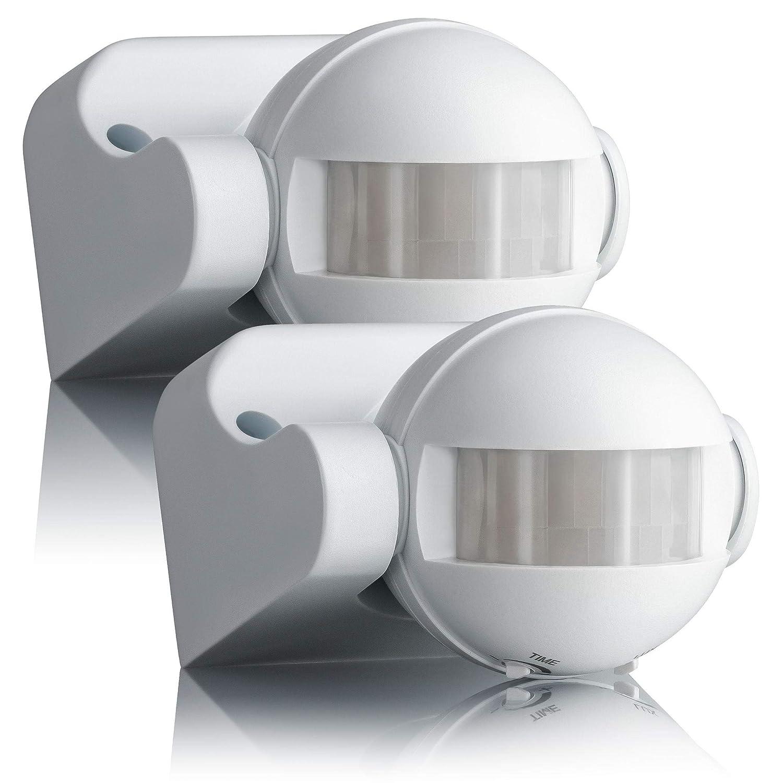 LED geeignet programmierbar SEBSON/® Bewegungsmelder Aussen IP44 Reichweite 12m // 180/° schwenkbar Wand Montage Infrarot Sensor Aufputz