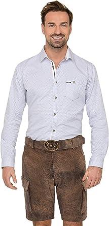 TDS MLE 6050 - Pantalón corto de piel, color marrón: Amazon ...