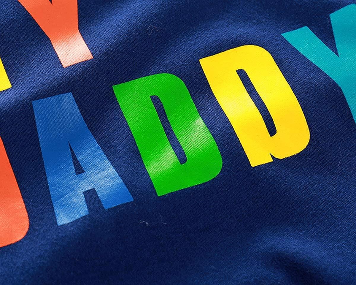 AIKSSOO Baby Boys Girls I Love My Daddy Mummy Onesie Summer Cotton Romper Jumpsuit