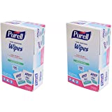 Gojo Purell Sanitizing Hand Wipes Individually Wrapped 100-Ct. Box by Gojo,Pack of 2