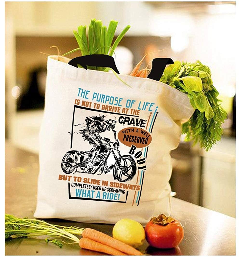 Amazon.com: Ser una moto bolsa de lona, el propósito de la ...