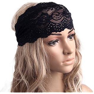 c055718bfd2 HP95(TM) Women Sexy Lace Wide Headband Bohemian Headwrap Hair accessories  (Black)