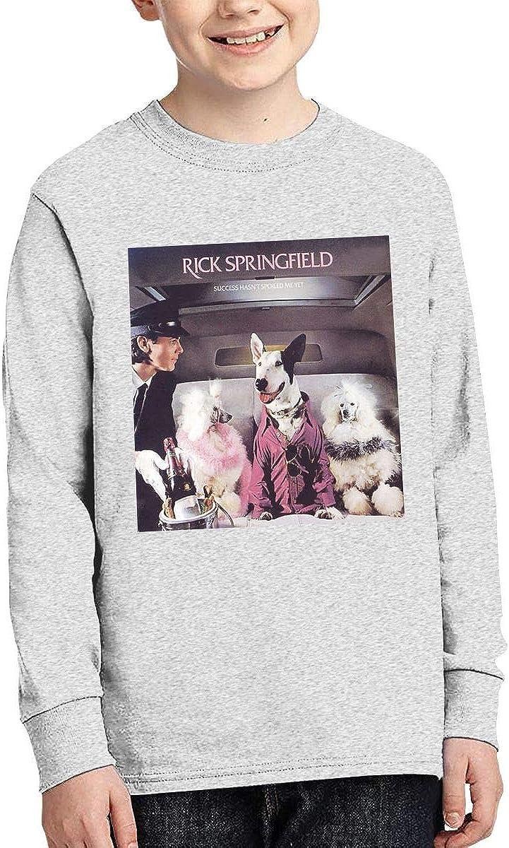 RyanCSchmitt Rick Springfield Youth Boys Girls 3D Front Print Fashion Long Sleeves T Shirt Fashion Youth Tee Shirts