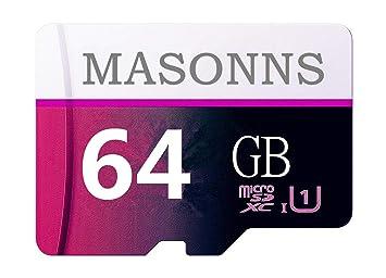 MASONNS - Tarjeta de Memoria Micro SD SDXC (64 GB, Clase 10, con ...
