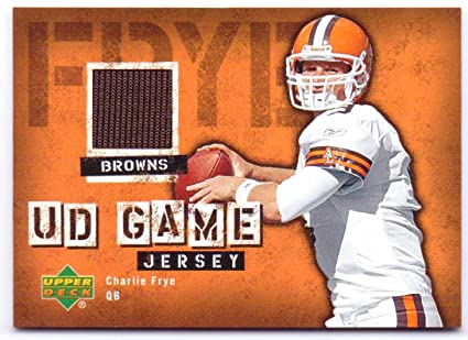 Charlie Frye Upper Deck Authentic Game Worn Jersey  GJ-CF - Cleveland Browns 7df444bc9