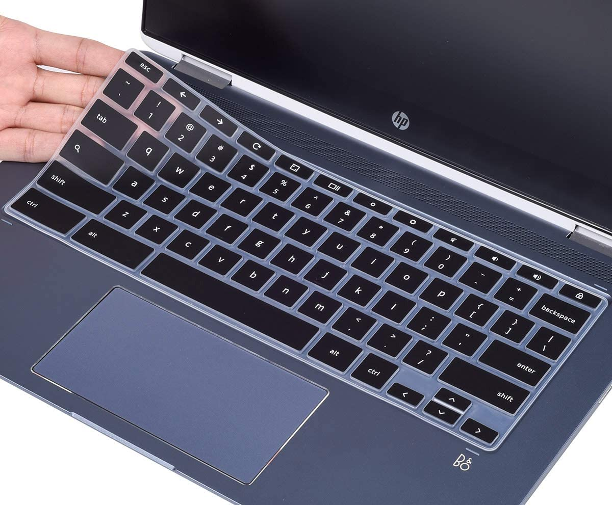 CaseBuy Keyboard Cover for 2020 HP Chromebook 14 inch, HP Chromebook X360 14-DA 14B-CA Series, HP Chromebook 14a-na Series, 14 inch HP Chromebook Keyboard Skin, Black