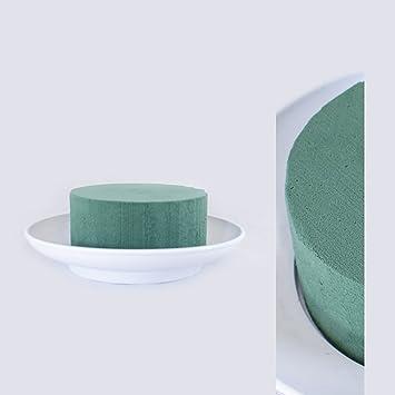 Steckschaum-Zylinder in runder Schale Tisch Steckmasse Steckmoos Steckschwamm