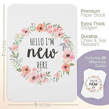 Keepsakes, Memory Books Baby Birth Milestones Cards Baby Shower Gift Girls Boho Style Newborn Nursery Keepsakes